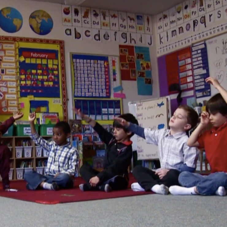Children in classroom from Healthy Habits Mind film
