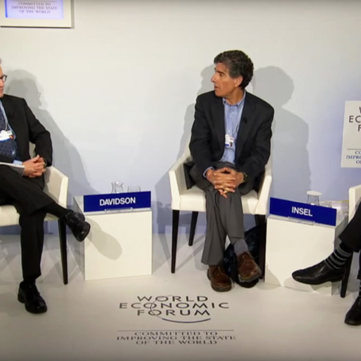 Richard Davidson, Thomas Insel and Joe Palca at the World Economic Forum