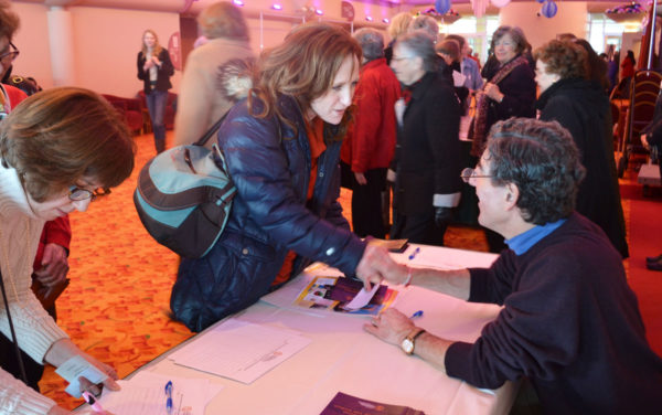 Richard Davidson at book signing