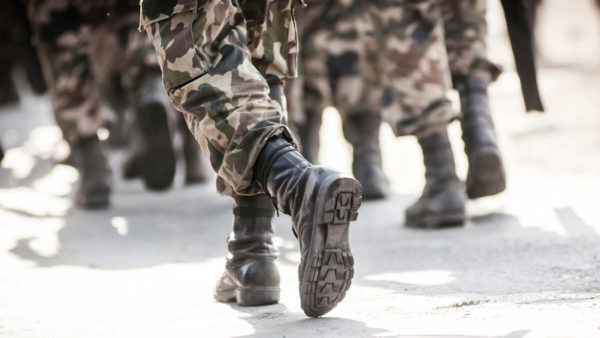 Military boots moving by ChrisSuperseal via iStockPhoto