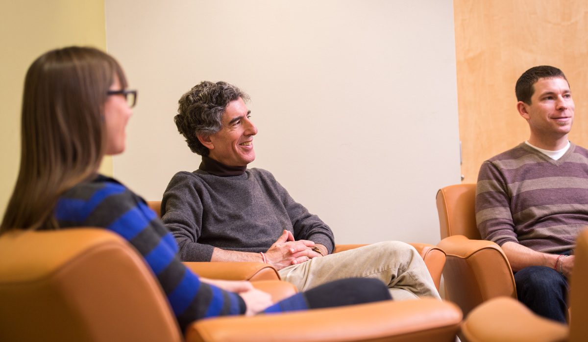Richard Davidson meets with graduate students by David Nevala