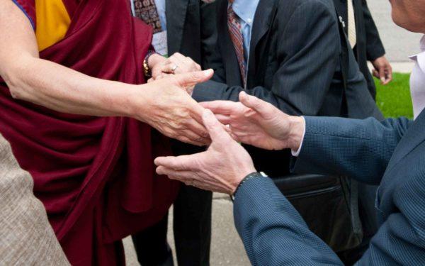Dalai Lama Handshake Cropped Jeff Miller Web