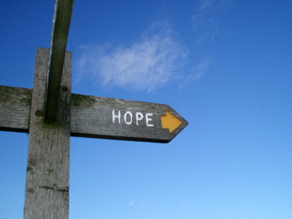 "Photo of sign pointing with words ""hope"" by Pol Sifter via Flickr"