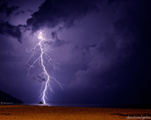 Lightning Beach Photo by gerlos via Flickr  Cc