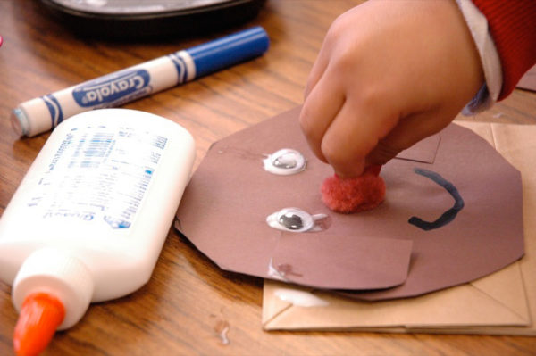 Photo of preschool children doing crafts by Barnaby Wasson via Flickr